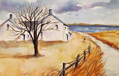 Bayside Painting - The Road To The Sea by Jean Costa