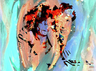 Mick Jagger And Keith Richards Mixed Media - The Rolling Stones 2b by Brian Reaves