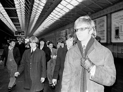 Irish Rock Band Photograph - The Rolling Stones Arrive In Dublin by Irish Photo Archive
