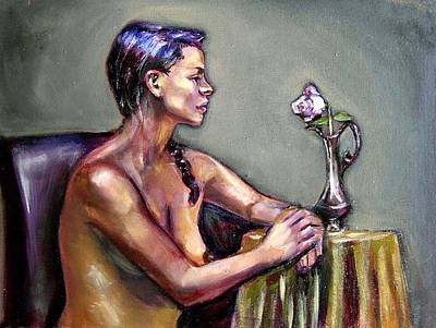 Painting - The Rose by Renuka Pillai
