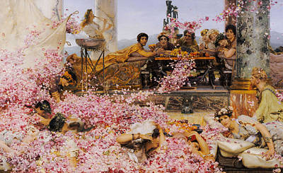 Painting - The Roses Of Heliogabalus by Lawrence Alma-Tadema