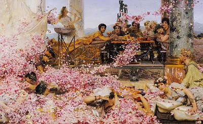 Tadema Painting - The Roses Of Heliogabalus by Lawrence Alma-Tadema