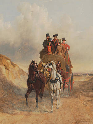 Painting - The Royal Mail Coach On The Road by Treasury Classics Art