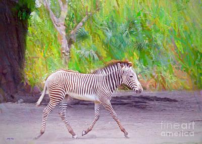 Wild Animal Painting - The Run Around by Judy Kay