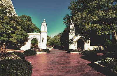 Photograph - The Sample Gates Of Indiana University by Library Of Congress