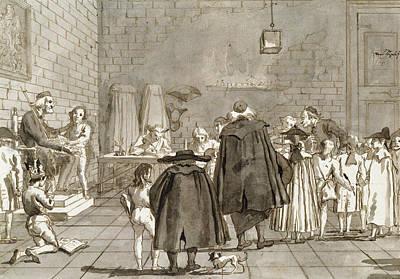 Drawing - The School by Giovanni Domenico Tiepolo