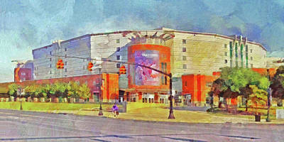 Digital Art - The Schottenstein Center.  The Ohio State University by Digital Photographic Arts