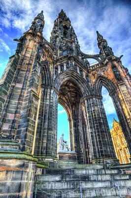 Photograph - The Scott Memorial Edinburgh by David Pyatt
