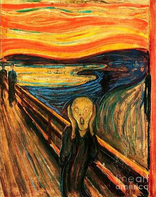 The Scream Art Print by Pg Reproductions