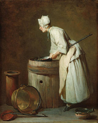 Painting - The Scullery Maid by Jean-Simeon Chardin