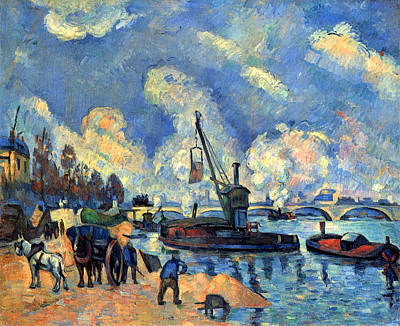 Dock Painting - The Seine At Bercy by Paul Cezanne