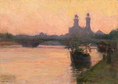 African American Artist Wall Art - Painting - The Seine by Henry Ossawa Tanner