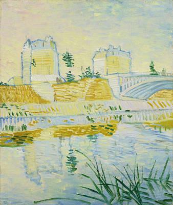 Bridge Painting - The Seine With The Pont De Clichy by Vincent van Gogh
