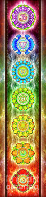 Mandal Digital Art - The Seven Chakras - Series 3 Artwork 1.1 by Dirk Czarnota