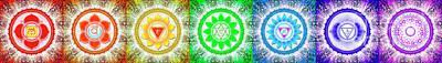 Manipura Digital Art - The Seven Chakras - Series 6 by Dirk Czarnota