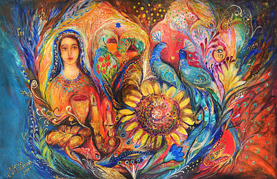 Blessings Painting - The Shabbat Queen by Elena Kotliarker