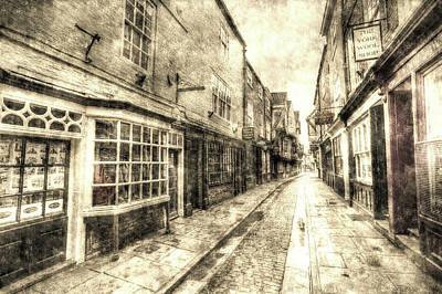 Photograph - The Shambles York Vintage by David Pyatt