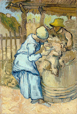 Painting - The Sheep-shearer by Vincent van Gogh