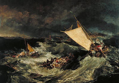 J Boat Painting - The Shipwreck by JMW Turner