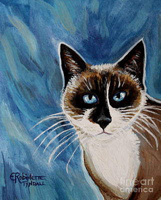 Cat Painting - The Siamese Cat by Elizabeth Robinette Tyndall
