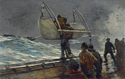 Winslow Homer Painting - The Signal Of Distress by Winslow Homer