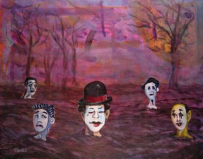 Corrected Painting - The Silence Of The Mimefield by Dennis Tawes
