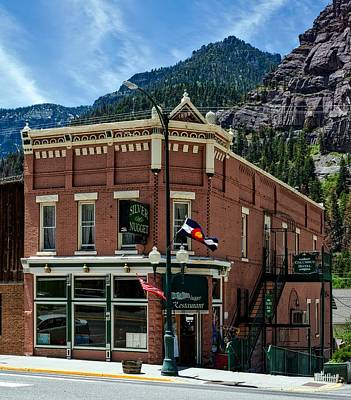 Colorado State Flag Photograph - The Silver Nugget Restaurant by Mountain Dreams