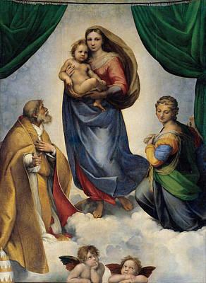 The Sistine Madonna Art Print by Raffaello Sanzio