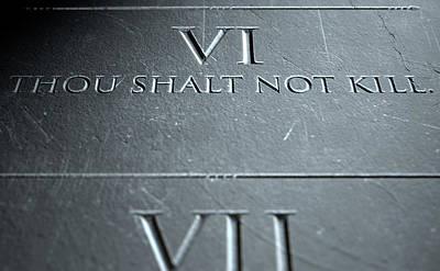 The Sixth Commandment Art Print by Allan Swart