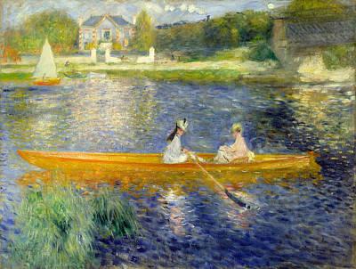 Steam Painting - The Skiff by Pierre-Auguste Renoir
