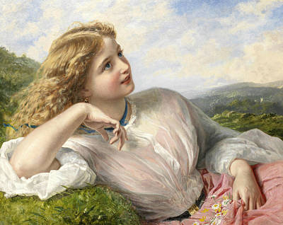 The Song Of The Lark Art Print by Sophie Gengembre Anderson