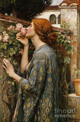 Wistful Painting - The Soul Of The Rose, 1908 by John William Waterhouse