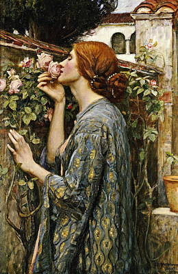 Painting - The Soul Of The Rose by John William Waterhouse