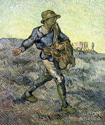 Painting - The Sower After Millet by Vincent Van Gogh