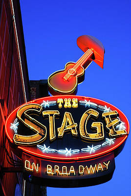 Photograph - The Stage On Broadway, Nashville by James Kirkikis