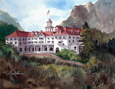 Painting - The Stanley Hotel by Tina Bohlman