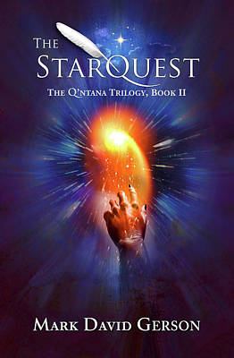 Digital Art - The Starquest Book Cover by Mark David Gerson