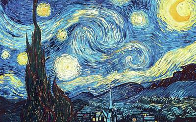 World Forgotten Rights Managed Images - The Starry Night Royalty-Free Image by Van Gogh