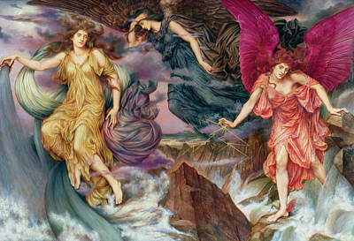 Morgan Painting - The Storm Spirits by Evelyn De Morgan