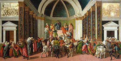 Early Painting - The Story Of Virginia by Sandro Botticelli