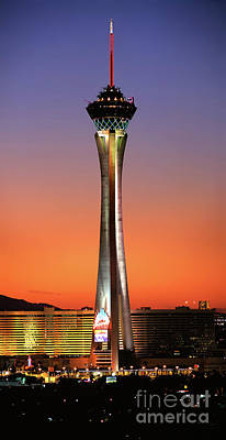 Photograph - The Stratosphere Tower In Las Vegas by Wernher Krutein