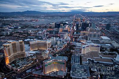 Sunset Strip Wall Art - Photograph - The Strip At Night, Las Vegas by PhotoStock-Israel