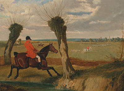 Painting - The Suffolk Hunt - Full Cry by Treasury Classics Art