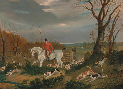 Painting - The Suffolk Hunt - Going To Cover Near Herringswell by Treasury Classics Art