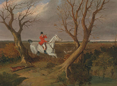 Painting - The Suffolk Hunt - Gone Away by Treasury Classics Art