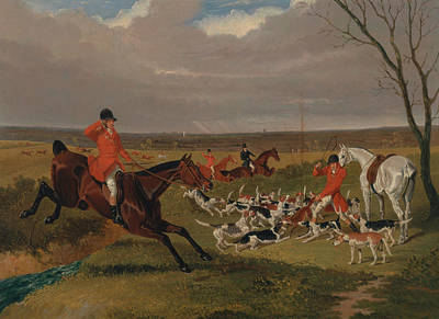 Painting - The Suffolk Hunt - The Death by Treasury Classics Art