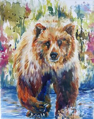 Painting - The Summer Bear by P Maure Bausch