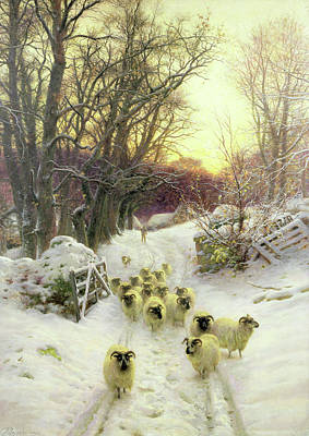 Joseph Farquharson Wall Art - Painting - The Sun Had Closed The Winters Day  by Joseph Farquharson