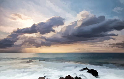 Coastline Digital Art - The Sun Looking Down by Jon Glaser