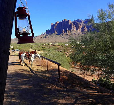 Photograph - The Superstition Mountains by Donna Spadola